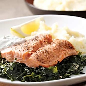 Image of Arctic Char On A Bed Of Kale, Kitchen Daily