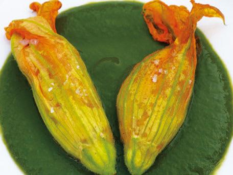 Shrimp-Stuffed Zucchini Flowers (Fiori Di Zucca Ripieni Con Gamberi)