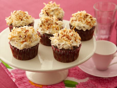 Devils Food Cupcakes with Coconut Pecan Frosting