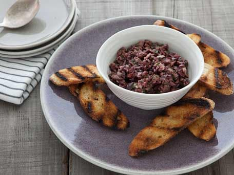 Olive and Garlic Tapenade Crostini