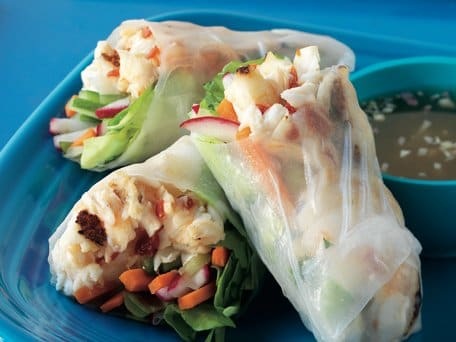 Summer Rolls with Halibut, Lemongrass, and Radishes