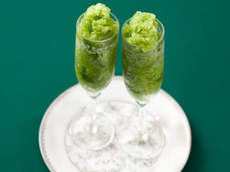 Green Apple and Basil Granita