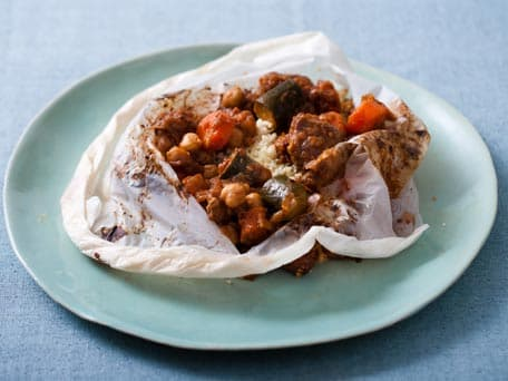Lamb Stew with Couscous 'en Papillote'