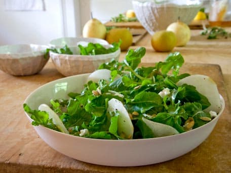 Image of Asian Pear And Arugula Salad With Goat Cheese, Kitchen Daily