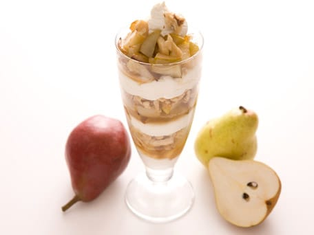 Maple Roasted Fruit, Ricotta & Walnut Parfait