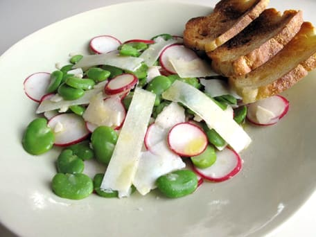 Fava Bean Salad with Radishes and Pecorino