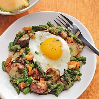 Potato, Asparagus & Mushroom Hash