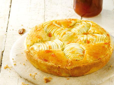 Frangipane Apple Tart with Apricot Glaze