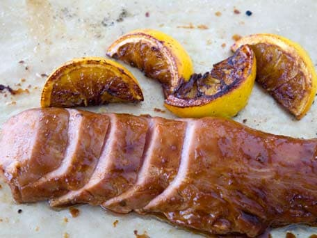 Roasted Pork Loin with Orange Chipotle Glaze
