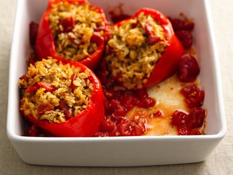Healthified New Orleans-Style Stuffed Peppers