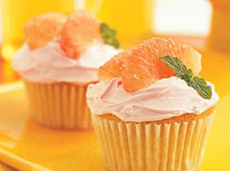 Blushing Grapefruit Cupcakes