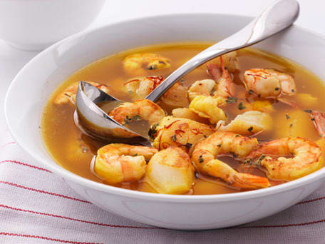 Seafood Stew in Saffron Broth