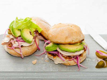 Mexican Chicken and Bean Sandwich