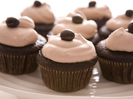 Chocolate Espresso Cupcakes with Cocoa Whipped Cream