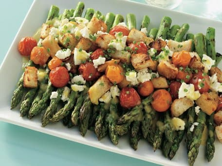 Image of Asparagus And Tomato Salad With Feta, Kitchen Daily