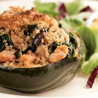 Image of Acorn Squash Stuffed With Chard & White Beans For Two, Kitchen Daily