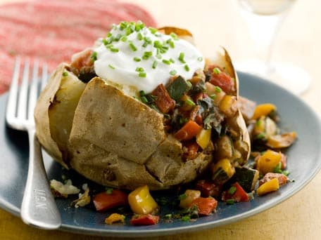 Healthy Baked Potato with Ratatouille
