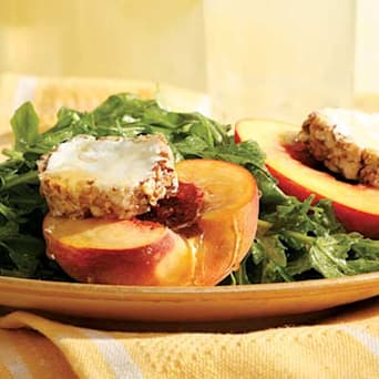 Image of Arugula Salad With Honey-drizzled Peaches, Kitchen Daily