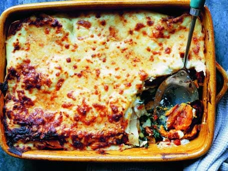 Roasted Squash and Spinach Lasagna