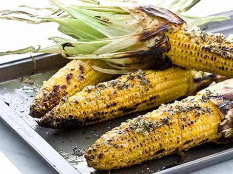 Grilled Corn on the Cob with Parsley and Garlic