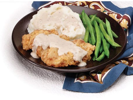 Chicken Fried Steak With Cream Gravy Recipe — Dishmaps