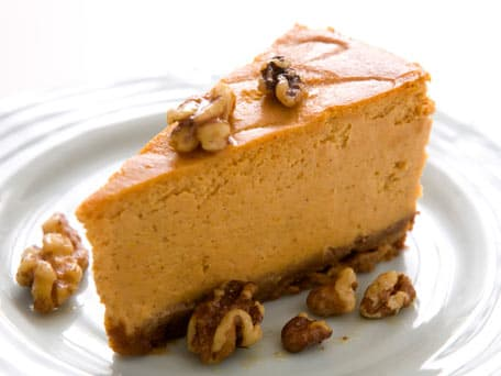 Pumpkin Cheesecake with Honeyed Walnuts