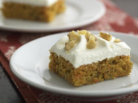 Healthified Spiced Carrot Cheesecake Bars