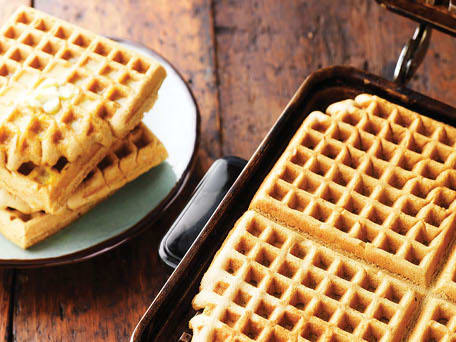 Sweet Potato Waffles with Whipped Orange Butter