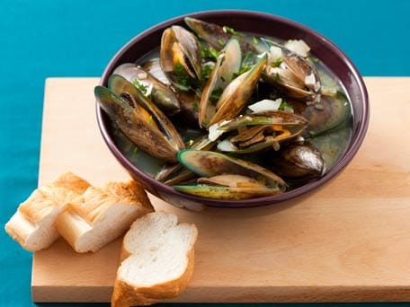 Beer Braised Mussels