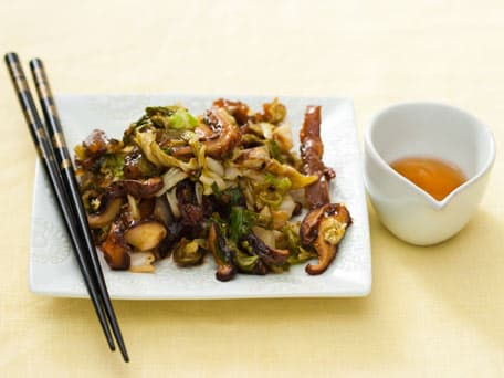 Image of Asian Cabbage And Shiitake Stir-fry, Kitchen Daily