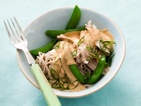 Chicken and Soba in Peanut Sauce