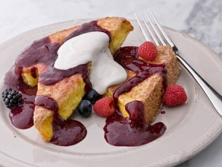 Cinnamon French Toast with Red Berry Sauce
