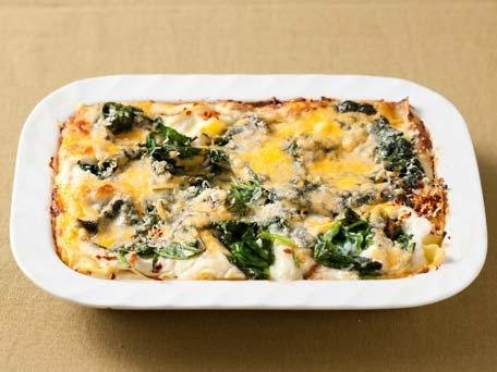 Cauliflower Puree and Spinach Lasagna