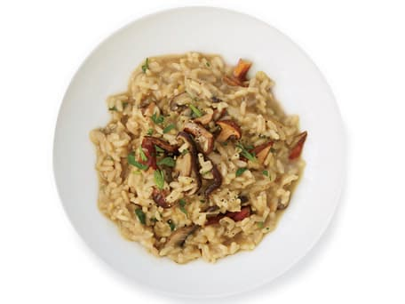 Wild Mushroom-and-Red Wine Risotto