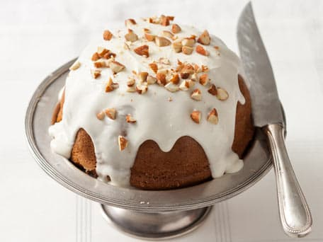 Glazed Almond and Cinnamon Coffee Cake