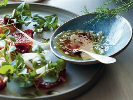 Watercress and Fennel Salad with Blood Orange and Thyme Vinaigrette
