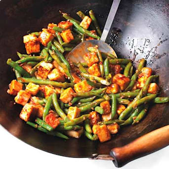 Szechuan Tofu &amp; Green Bean Stir-Fry