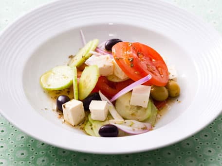 Greek Salad with Tomatoes, Olives, and Feta