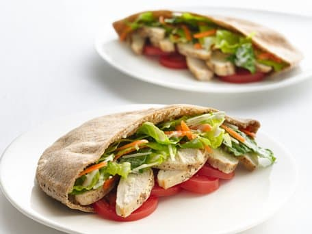 Healthified Chicken Caesar Pitas