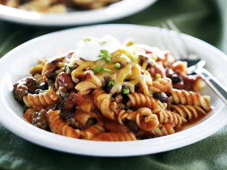 Healthified Mexican Ground Beef and Noodles