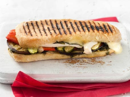 Roasted Vegetable, Tofu and Pesto Panini