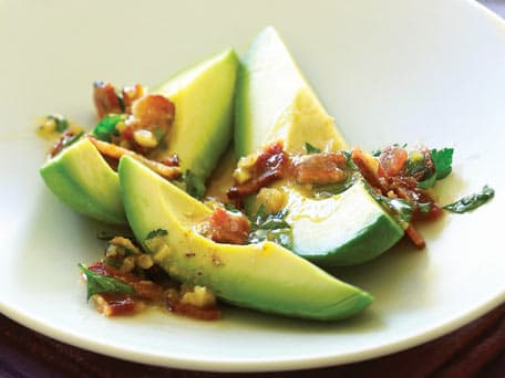 Image of Avocados With Warm Bacon Parsley Vinaigrette, Kitchen Daily
