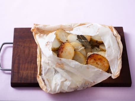 Herb-Baked Potatoes with Sweet Onions, Sea Salt and Olive Oil