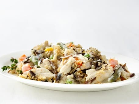 Healthified Turkey and Wild Rice Casserole