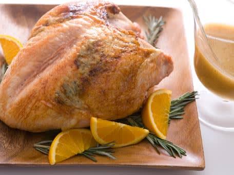 Rosemary-Maple Glazed Turkey Breast with Gravy