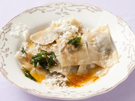 Mushroom Ravioli with Oregano Brown-Butter Sauce
