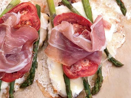 Image of Asparagus-cheese Tartines, Kitchen Daily