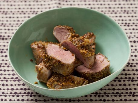 Pork Tenderloin with Grainy Mustard-Orange Rub