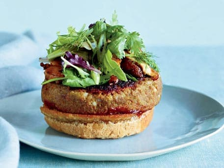 Veggie Burgers with Pomegranate Ketchup