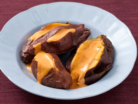 Roasted Sweet Potatoes with Red Pepper Aioli